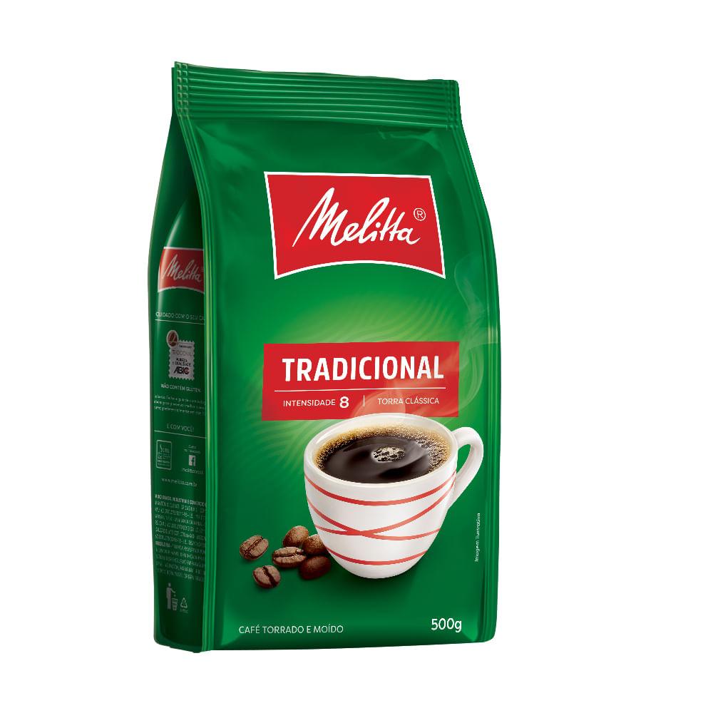 CAFÉ TORRADO MOÍDO TRADICIONAL MELITTA POUCH 500G