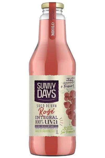 SUCO SUNNY DAYS DE UVA ROSE INTEGRAL 1 LT