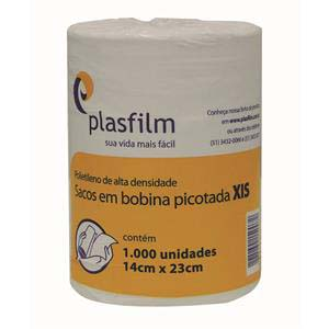 BOBINA PLAST.P/XIS 14X23CM 1000 UN