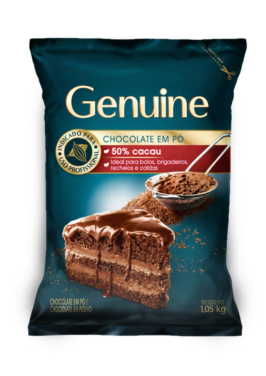 CHOCOLATE EM PÓ 50% GENUINE 1,05 KG