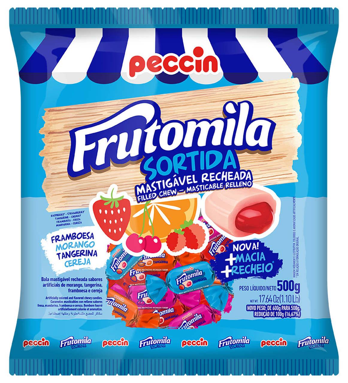 BALA PECCIN FRUTOMILA RECH.SORTIDA 500 G