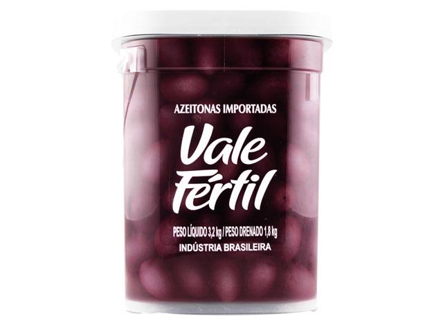 AZEITONA PRETA SEM CAROÇO VALE FERTIL 1,8 KG