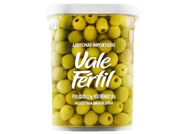 AZEITONA VERDE SEM CAROÇO VALE FERTIL 1,8 KG