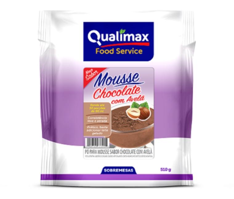 MOUSSE QUALIMAX CHOCOLATE COM AVELÃ 510 G
