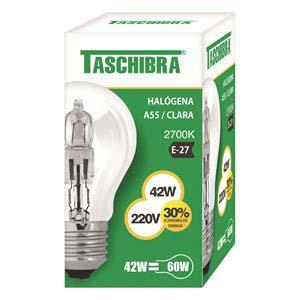 LAMP.HALOG A55 42W220V TASCHIBR 10UN