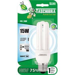 LAMP.ELET. 3U 15W 220V BR TASCHIBRA