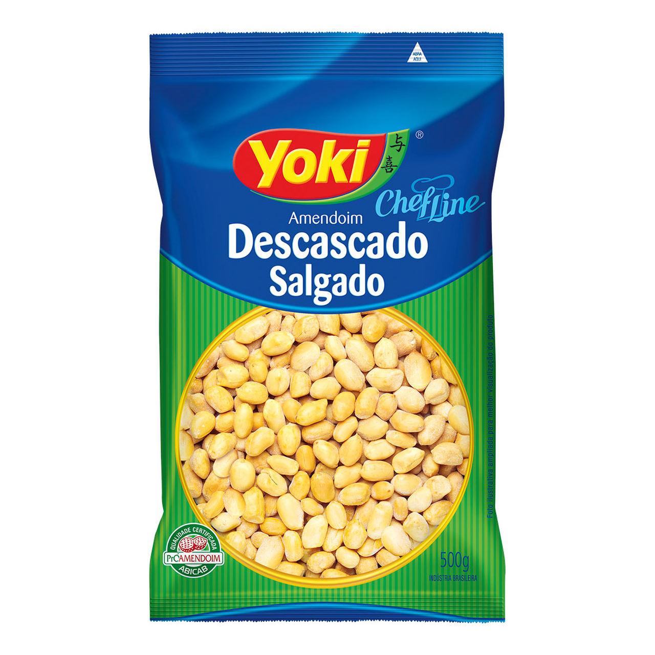AMENDOIM DESC.SALGADO YOKI 500 G