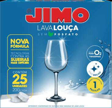PASTILHAS JIMO LAVA LOUCA 25X20 G