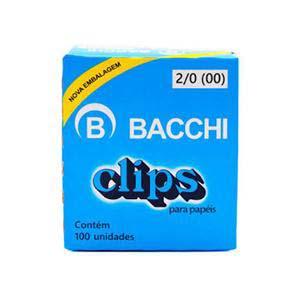 CLIPS NIQUELADO 2/0(00) BACCHI 100 UN