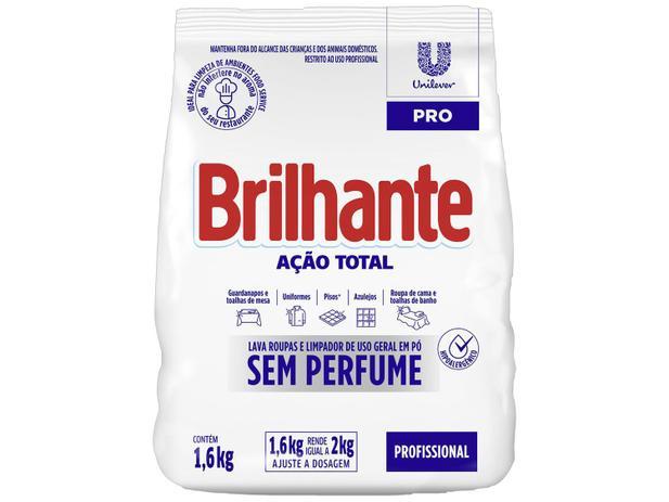 SABÃO EM PÓ BRILHANTE SEM PERFUME 1,6 KG